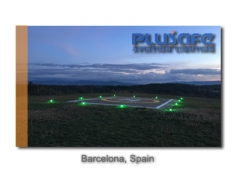 Green TLOF Heliport Lighting Operated In Barcelona