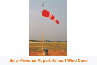 Solar Powered Airport Wind Cone